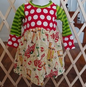 Girls 2T Boutique Christmas Story dress